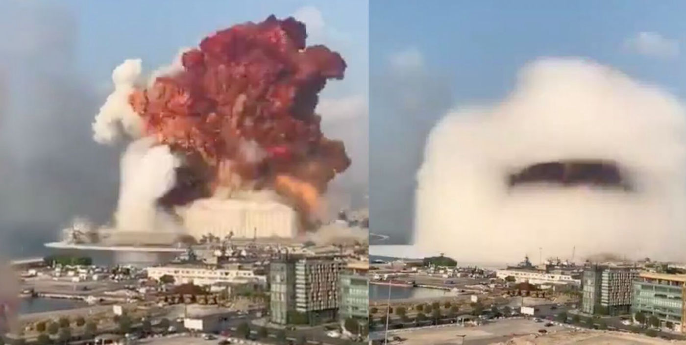 Beirut's storage of solid fuel missile propellant exploded